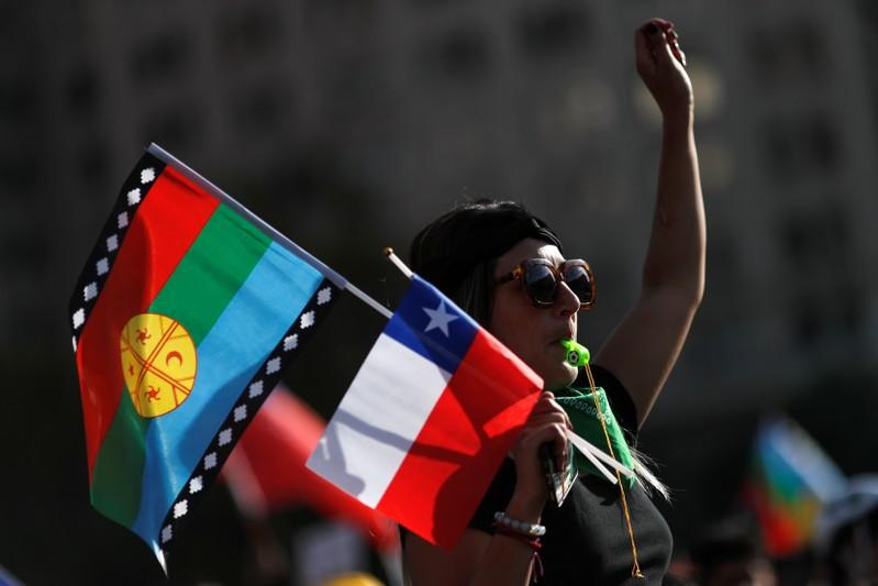 Protests against Chile's goverment in Santiago