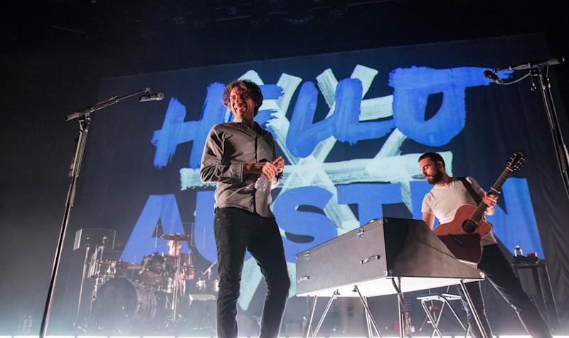 AUSTIN, TEXAS - APRIL 20: Singer-songwriter Gary Lightbody (L) and Johnny McDaid of Snow Patrol perform in concert during the 'Wildness Tour' at ACL Live on April 20, 2019 in Austin, Texas. (Photo by Rick Kern/WireImage)