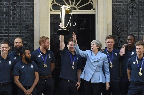The Prime Minister Hosts A Reception For The Winning England Cricket Team