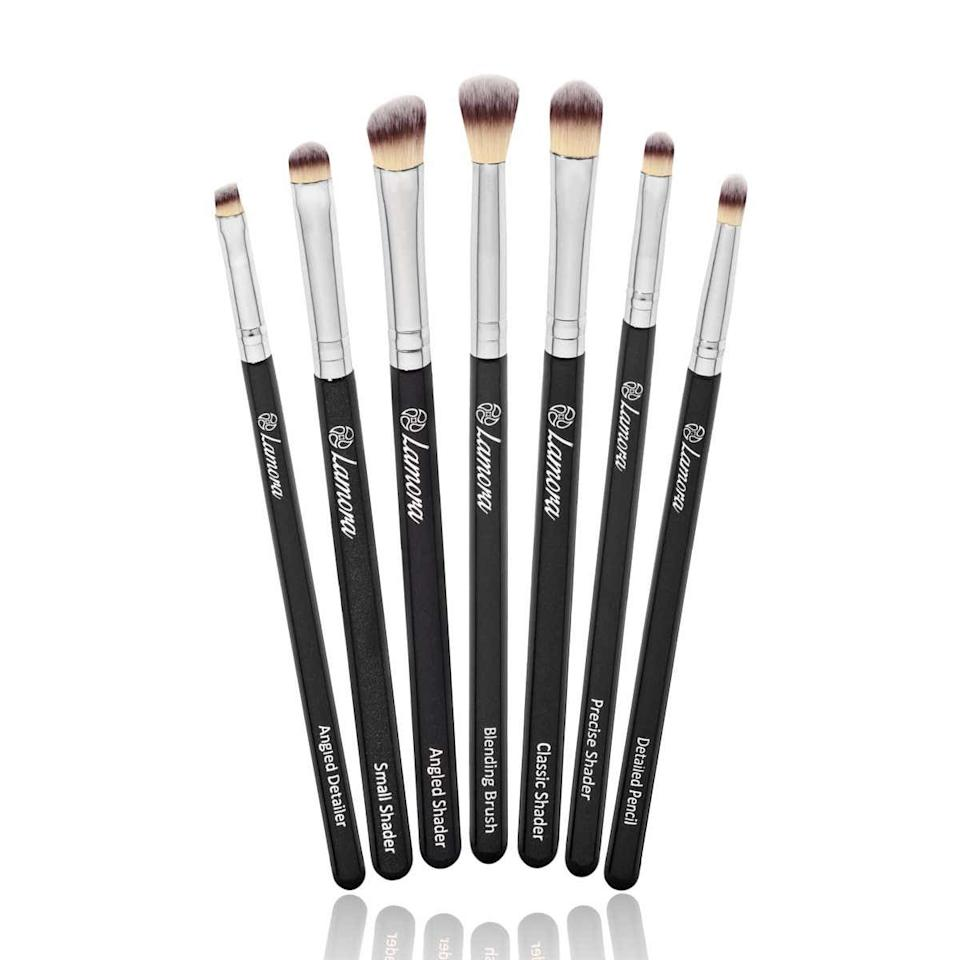 "<p><strong>Star Rating:</strong> 4.7 out of 5</p> <p><strong>Key selling points:</strong> If you find yourself obsessing over intricate eye looks on YouTube or Instagram, this eye shadow brush set deserves a spot in your cart. Whether you're going for a sharp cat eye or a sultry smoky look, these brushes are the answer. </p> <p><strong>What customers say:</strong> ""I can't believe how well these worked. I am going to buy another set very soon. They are very similar to my Sigma brushes that I own, but much more inexpensive. They are really soft and they don't irritate my eyes. If you are thinking about these I would do it! For the price, you can't go wrong."" <em>–Kaci</em></p> $13, Amazon. <a href=""https://www.amazon.com/Makeup-Eye-Brush-Set-Eyeshadow/dp/B00MNMQKPC/ref=sr_1_75"">Get it now!</a>"