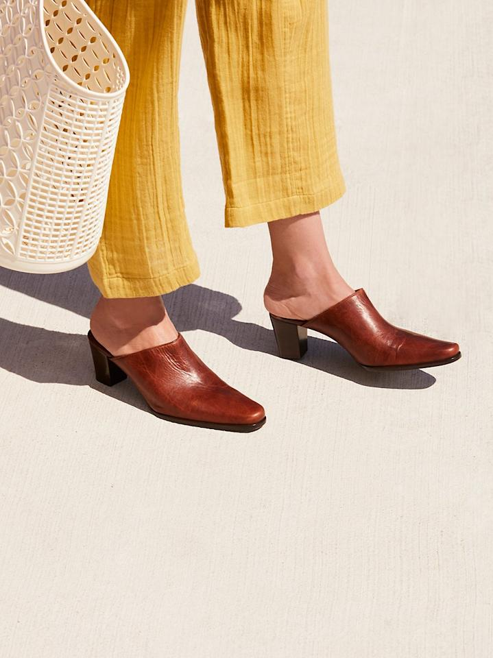 "<p><strong>Coconuts by Matisse</strong></p><p>Free People Coconuts by Matisse Mules</p><p><strong>$99.95</strong></p><p><a rel=""nofollow"" href=""https://www.freepeople.com/shop/gallery-mule/"">SHOP IT</a></p><p>Think warm thoughts. Think warm thoughts. Think warm thoughts. These chic pointy-toe mules, perfect for the office or date night, are about to become even cheaper when Free People hosts <strong>25 percent off all sale items</strong> this Cyber Monday. </p>"