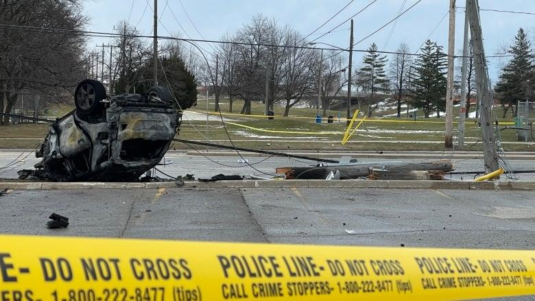 Six patients have been taken to hospital after a collision involving three vehicles took place in North York, late Friday morning. (Dean Gariepy/CBC News)