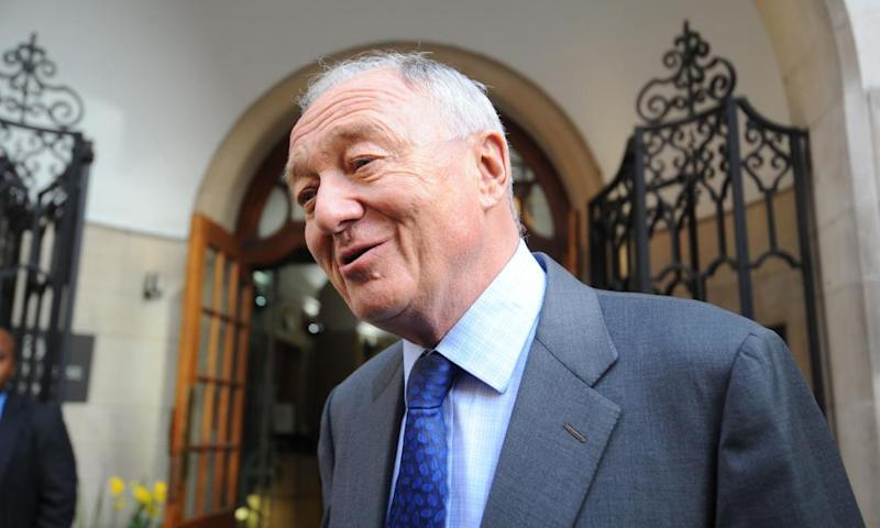 Ken Livingstone outside the disciplinary hearing at Church House, Westminster, London.