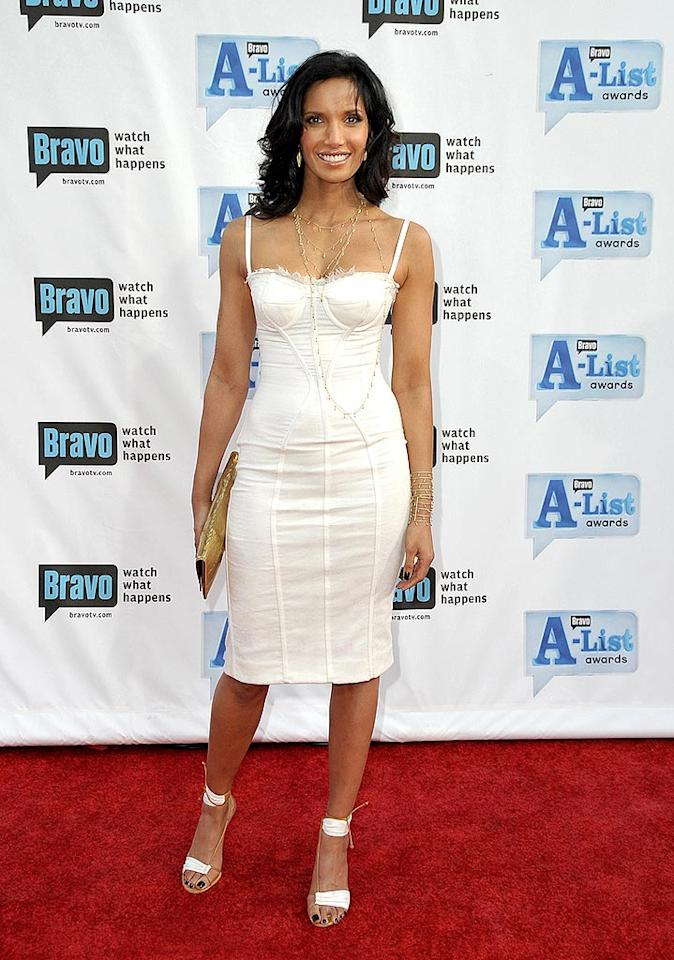 """Top Chef's Padma Lakshmi looked delish in an ivory bustier frock. Jordan Strauss/<a href=""http://www.wireimage.com"" target=""new"">WireImage.com</a> - April 5, 2009"