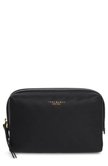 """<br> <br> <strong>Tory Burch</strong> Small Perry Nylon Cosmetics Case, $, available at <a href=""""https://go.skimresources.com/?id=30283X879131&url=https%3A%2F%2Fwww.nordstrom.com%2Fs%2Ftory-burch-small-perry-nylon-cosmetics-case%2F5345928"""" rel=""""nofollow noopener"""" target=""""_blank"""" data-ylk=""""slk:Nordstrom"""" class=""""link rapid-noclick-resp"""">Nordstrom</a>"""