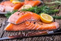 """<p>If you're on making a delicious <a href=""""https://www.thedailymeal.com/best-recipes/24-foolproof-seafood-recipes-anyone-can-cook-slideshow?referrer=yahoo&category=beauty_food&include_utm=1&utm_medium=referral&utm_source=yahoo&utm_campaign=feed"""" rel=""""nofollow noopener"""" target=""""_blank"""" data-ylk=""""slk:fish dish"""" class=""""link rapid-noclick-resp"""">fish dish</a> at some point during the week, it's best to know that raw fish only lasts in the fridge for a couple of days. If your fish is cooked, it can remain sealed in your refrigerator for three to four days. Frozen, uncooked fish can last four to six months. Signs of spoilage include a slimy film growing on the fish, an extra-fishy stench or any sign of discoloration. Salmon, for instance, can take on dark or white spots as it expires. Cooking salmon that's gone bad is a surefire way to ruin an otherwise <a href=""""https://www.thedailymeal.com/healthy-eating/heart-healthy-foods-gallery?referrer=yahoo&category=beauty_food&include_utm=1&utm_medium=referral&utm_source=yahoo&utm_campaign=feed"""" rel=""""nofollow noopener"""" target=""""_blank"""" data-ylk=""""slk:tasty heart-healthy dinner"""" class=""""link rapid-noclick-resp"""">tasty heart-healthy dinner</a>.</p>"""