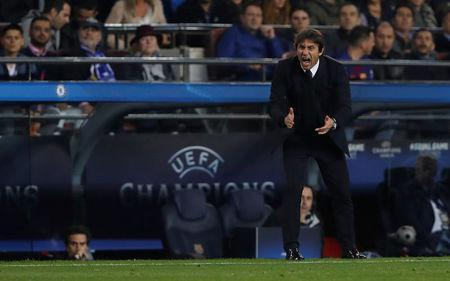 Soccer Football - Champions League Round of 16 Second Leg - FC Barcelona vs Chelsea - Camp Nou, Barcelona, Spain - March 14, 2018 Chelsea manager Antonio Conte Action Images via Reuters/Lee Smith
