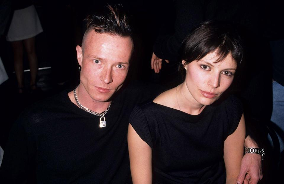 <p>Scott Weiland and a guest attending Hole in Concert to Benefit the Center for Living at The Viper Room in Los Angeles, CA on January 9, 1999.</p>
