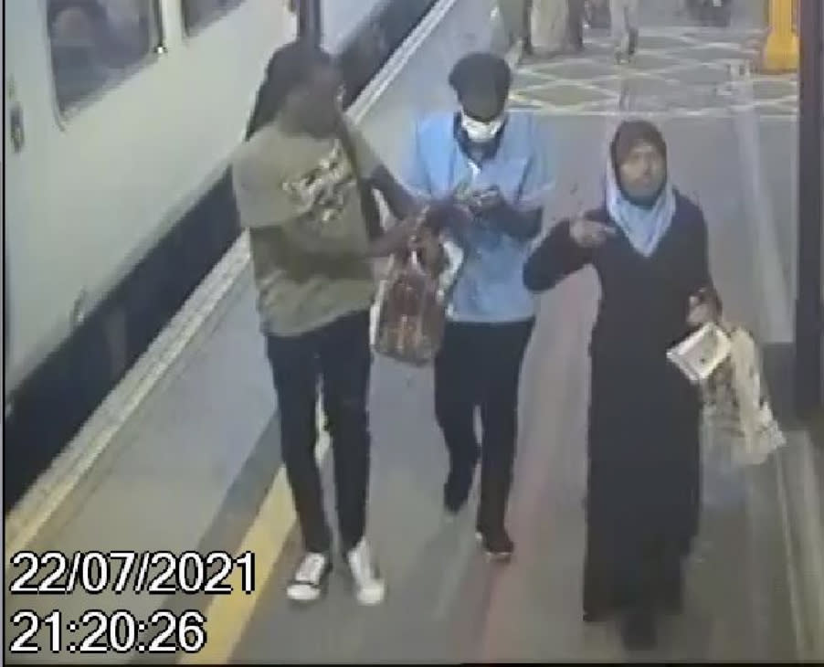 CCTV of Fatuma with couple police want to trace