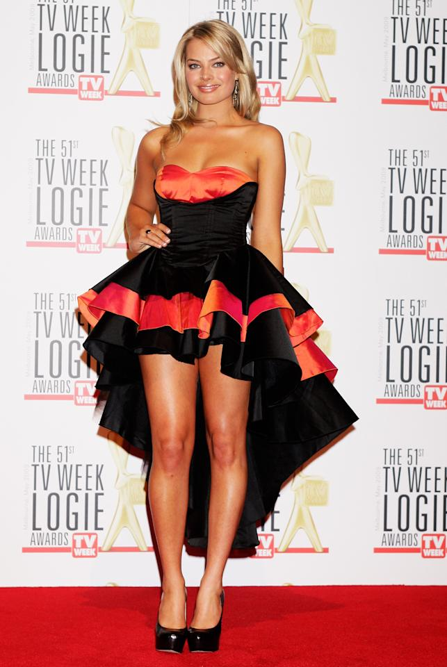 <p>Margot Robbie's 2009 Logies dress was made famous for how bad it was! For a girl who always gets it right, unfortunately this just didn't cut the mustard. Source: Getty </p>