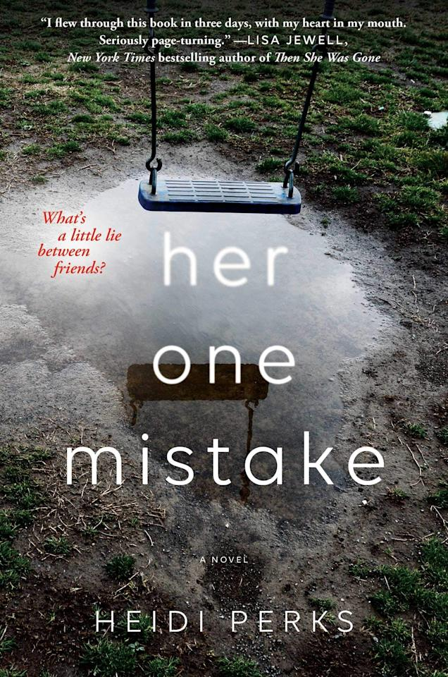 """<p>In Heidi Perks's debut novel, <strong><a href=""""https://www.popsugar.com/buy?url=https%3A%2F%2Fwww.amazon.com%2FHer-One-Mistake-Heidi-Perks%2Fdp%2F1501194224%2Fref%3Dpd_sim_14_1%3F_encoding%3DUTF8%26pd_rd_i%3D1501194224%26pd_rd_r%3D67eb7d71-2bfc-11e9-9464-d972d800d7c3%26pd_rd_w%3DSuJZq%26pd_rd_wg%3DhDI4x%26pf_rd_p%3D90485860-83e9-4fd9-b838-b28a9b7fda30%26pf_rd_r%3D3D7XFYRWQSPRK80QZQVP%26psc%3D1%26refRID%3D3D7XFYRWQSPRK80QZQVP&p_name=Her%20One%20Mistake&retailer=amazon.com&evar1=buzz%3Aus&evar9=45748981&evar98=https%3A%2F%2Fwww.popsugar.com%2Fentertainment%2Fphoto-gallery%2F45748981%2Fimage%2F45749000%2FHer-One-Mistake&list1=books%2Creading%2Chorror%2Creading%20list%2Cbest%20of%202019&prop13=api&pdata=1"""" rel=""""nofollow"""" data-shoppable-link=""""1"""" target=""""_blank"""" class=""""ga-track"""" data-ga-category=""""Related"""" data-ga-label=""""https://www.amazon.com/Her-One-Mistake-Heidi-Perks/dp/1501194224/ref=pd_sim_14_1?_encoding=UTF8&amp;pd_rd_i=1501194224&amp;pd_rd_r=67eb7d71-2bfc-11e9-9464-d972d800d7c3&amp;pd_rd_w=SuJZq&amp;pd_rd_wg=hDI4x&amp;pf_rd_p=90485860-83e9-4fd9-b838-b28a9b7fda30&amp;pf_rd_r=3D7XFYRWQSPRK80QZQVP&amp;psc=1&amp;refRID=3D7XFYRWQSPRK80QZQVP"""" data-ga-action=""""In-Line Links"""">Her One Mistake</a></strong>, a woman named Charlotte accidentally loses track of her best friend Harriet's only child at a school fair, and though Harriet vows in her grief to never speak to Charlotte again, the police investigation into the child's disappearance uncovers some dark secrets, forcing Harriet to accept that confiding in Charlotte may be the only way to see her daughter again. </p>"""