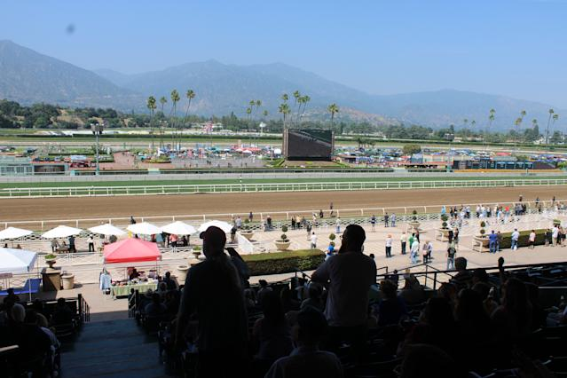 Attendance is down to roughly 10,000 people on Saturdays at Santa Anita Park. (Josh Schafer/Yahoo Sports)