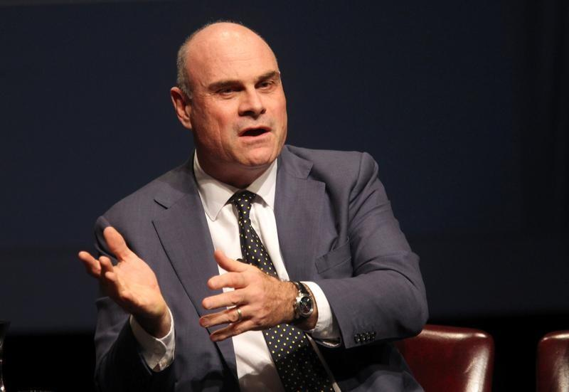 FILE PHOTO - AIG CEO Hancock speaks during the White House summit on cybersecurity and consumer protection in Palo Alto