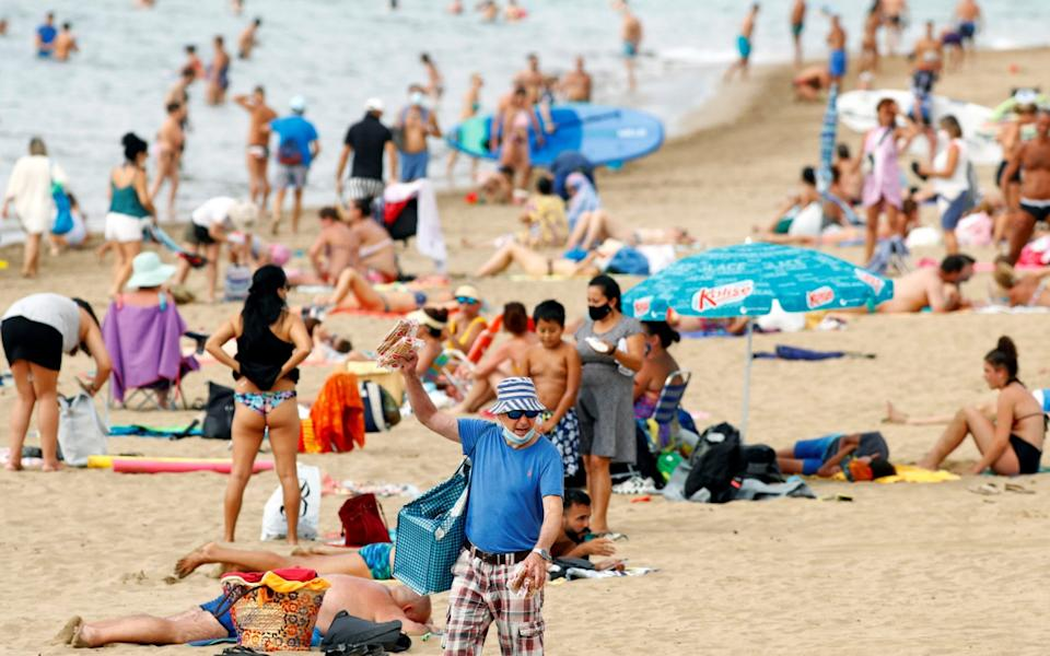 Holidaymakers in Spain - Borja Suarez/Reuters
