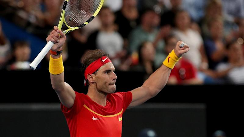Rafael Nadal has lifted Spain to an unassailable 2-0 lead over Georgia in the ATP Cup