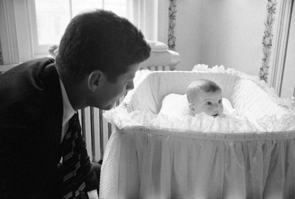 <p>Senator John F. Kennedy alone with his daughter Caroline.</p>