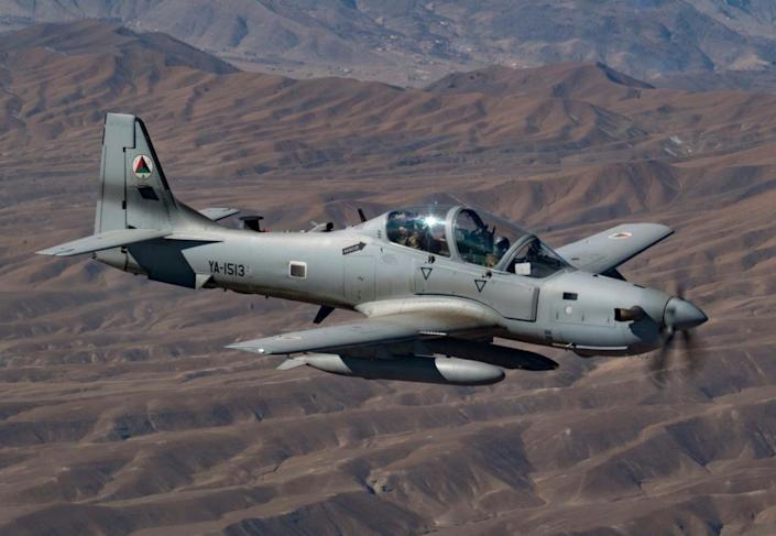 """In fact the A-29s were a """"game changer"""" in the 2016 fighting season and there are high expectations for the aircraft and crews in 2017.  On Mar. 20, 2017 four A-29 Super Tucano light-attack aircraft arrived for duty at Kabul Air Wing, Kabul, Afghanistan,"""