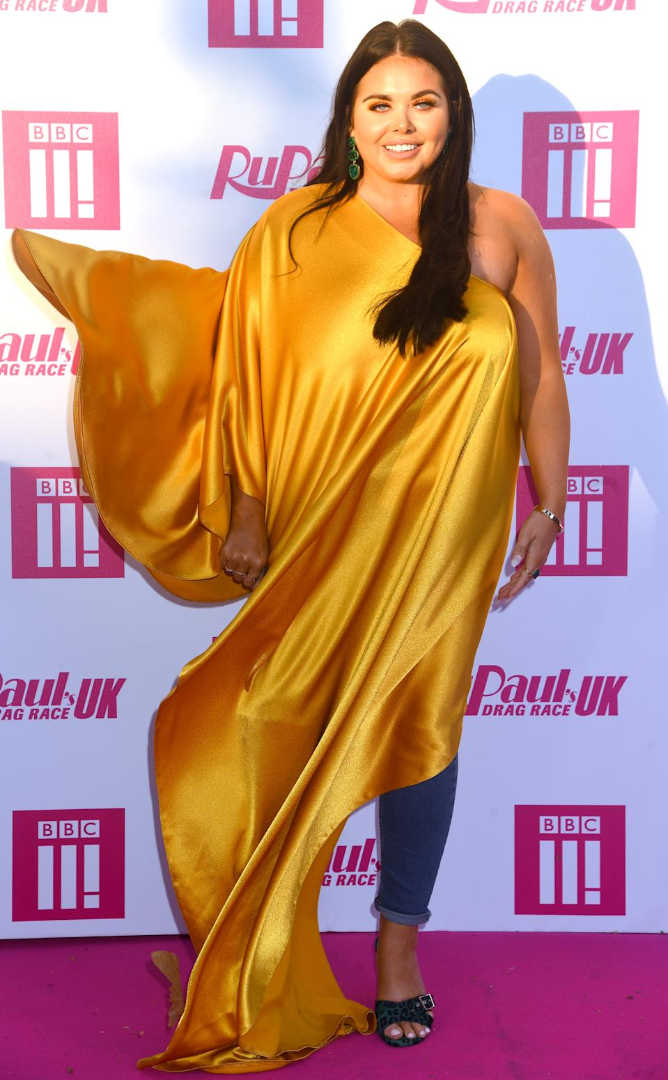 LONDON, ENGLAND - SEPTEMBER 17: Scarlett Moffatt attends Ru Paul's Drag Race UK at  on September 17, 2019 in London, England. (Photo by Dave J Hogan/Getty Images)