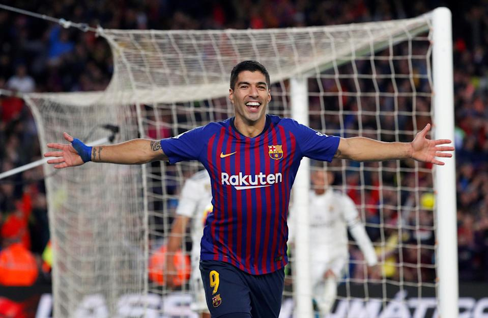 Luis Suarez netted a hat-trick as Barcelona wiped the Camp Nou grass with Real Madrid in El Clasico. (Reuters)