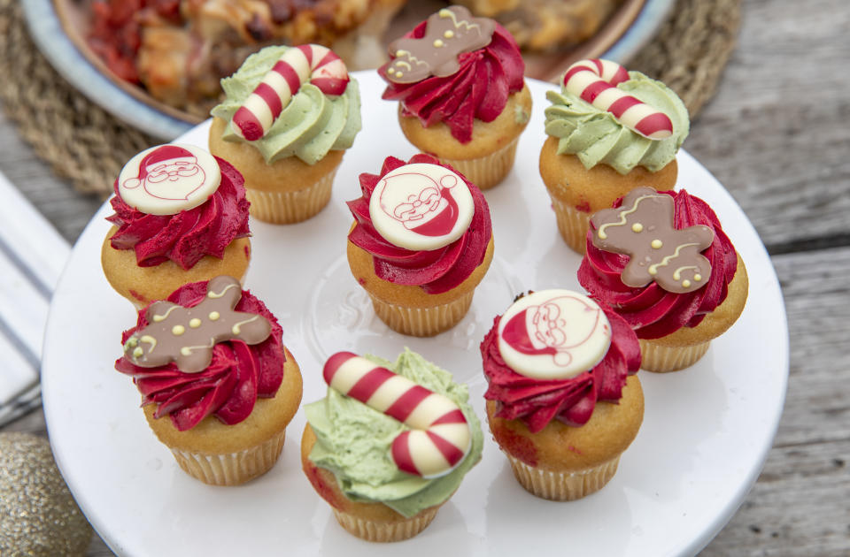 The nine pack of Woolworths Christmas Cupcakes are retailing for $10.