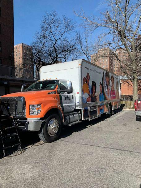 PHOTO: The mobile vaccination unit used by Bronx Rising Initiative to transport vaccines from Morris Heights Health Center to eligible seniors in Bronx public housing. (Bronx Rising Initiative)