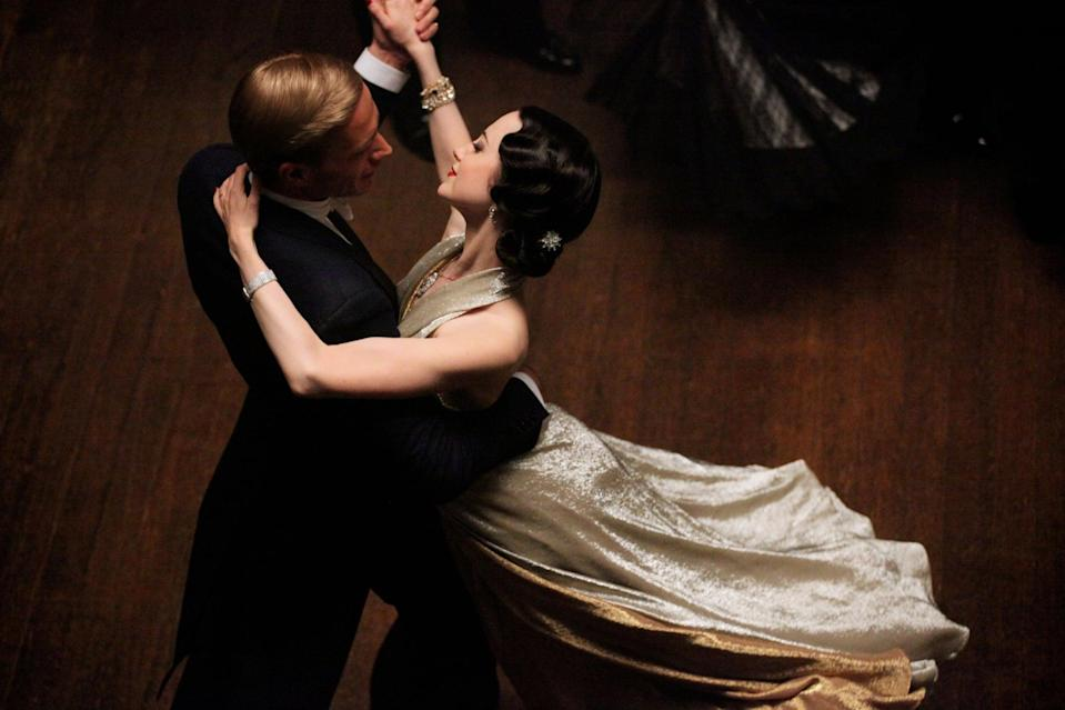 "<p>Based on the true love affair of Wallis Simpson and former-King Edward VIII of the United Kingdom, this movie tells the story of a New York woman who becomes enthralled with the couple's romantic life. She's compelled to tell Wallis' side of the story that's not often seen in mainstream media.</p> <p>Watch <a href=""https://www.netflix.com/title/70197169"" class=""link rapid-noclick-resp"" rel=""nofollow noopener"" target=""_blank"" data-ylk=""slk:W.E.""><strong>W.E.</strong></a> on Netflix now.</p>"