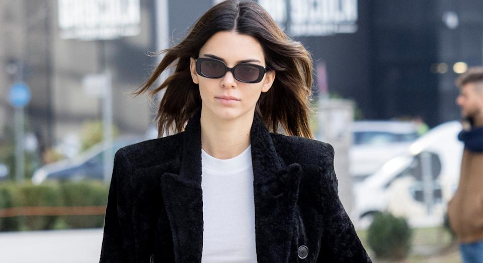 Kendall Jenner wore a lace lingerie bodysuit as she posed for a selfie on Instagram. (Getty Images)