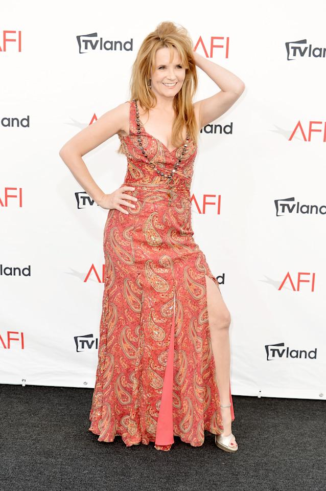 CULVER CITY, CA - JUNE 07:  Actress Lea Thompson arrives at the 40th AFI Life Achievement Award honoring Shirley MacLaine held at Sony Pictures Studios on June 7, 2012 in Culver City, California. The AFI Life Achievement Award tribute to Shirley MacLaine will premiere on TV Land on Saturday, June 24 at 9PM ET/PST.  (Photo by Alberto E. Rodriguez/Getty Images)