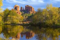 """<p><strong>Where to go:</strong> The red rock formations in Sedona look especially stunning in contrast with yellowing foliage.</p><p><strong>When to go: </strong>Late October</p><p><a class=""""link rapid-noclick-resp"""" href=""""https://go.redirectingat.com?id=74968X1596630&url=https%3A%2F%2Fwww.tripadvisor.com%2FHotels-g31352-Sedona_Arizona-Hotels.html&sref=https%3A%2F%2Fwww.redbookmag.com%2Flife%2Fg34045856%2Ffall-colors%2F"""" rel=""""nofollow noopener"""" target=""""_blank"""" data-ylk=""""slk:FIND A HOTEL"""">FIND A HOTEL</a></p><p><strong>RELATED: <a href=""""https://www.goodhousekeeping.com/food-recipes/party-ideas/news/a25730/american-food-facts/"""" rel=""""nofollow noopener"""" target=""""_blank"""" data-ylk=""""slk:50 American Food Facts You Didn't Know"""" class=""""link rapid-noclick-resp"""">50 American Food Facts You Didn't Know</a></strong></p>"""