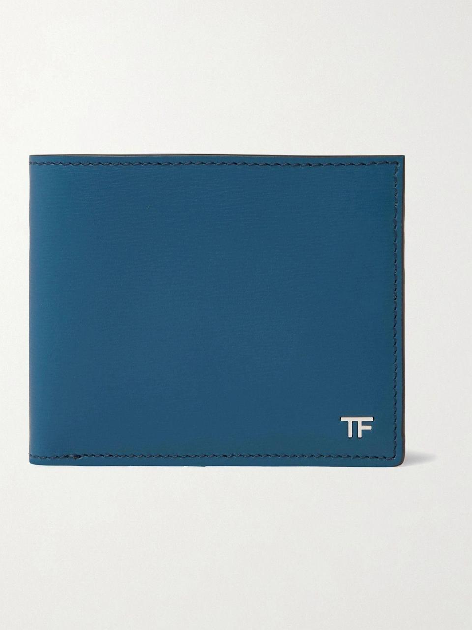 """<p><strong>TOM FORD</strong></p><p>mrporter.com</p><p><strong>$490.00</strong></p><p><a href=""""https://go.redirectingat.com?id=74968X1596630&url=https%3A%2F%2Fwww.mrporter.com%2Fen-us%2Fmens%2Fproduct%2Ftom-ford%2Faccessories%2Fbillfold-wallets%2Flogo-appliqued-textured-leather-billfold-wallet%2F46353151655520276&sref=https%3A%2F%2Fwww.esquire.com%2Fstyle%2Fmens-accessories%2Fg35924710%2Fmens-luxury-wallets%2F"""" rel=""""nofollow noopener"""" target=""""_blank"""" data-ylk=""""slk:Shop Now"""" class=""""link rapid-noclick-resp"""">Shop Now</a></p><p>Even Tom Ford gets the blues. (And we're all the luckier for it.)</p>"""