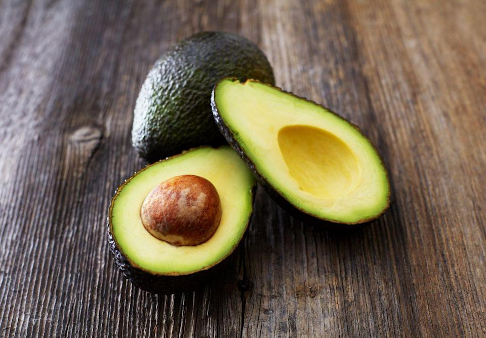 <p>The perfectly ripe avocado can make for a yummy and creamy snack option. Plus, a half is about 160 calories and is <strong>packed with healthy fats and filling fiber.</strong> Slice one in half, and sprinkle on lemon or lime juice, pink Himalayan salt, and fresh cracked pepper. Enjoy with a spoon!</p>