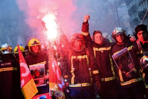 ome 615,000 people took to the streets across France on Tuesday, the third day of mass protests since the strike began on December 5