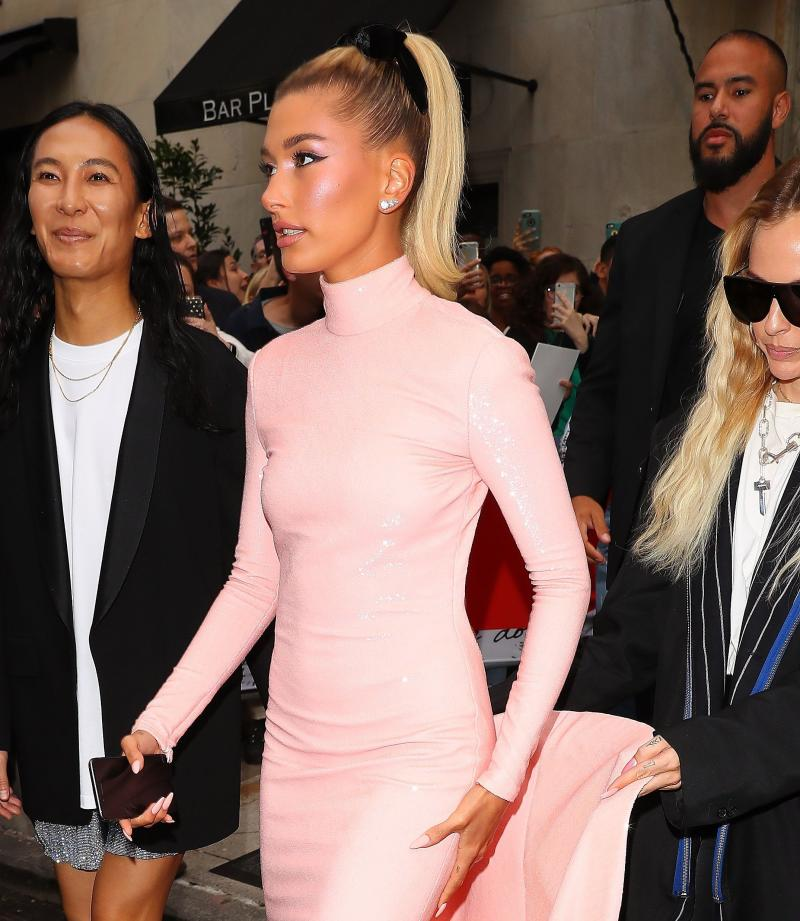 Hailey Bieber Sparkles In Backless, Barbie Pink Gown At 2019 Met Gala