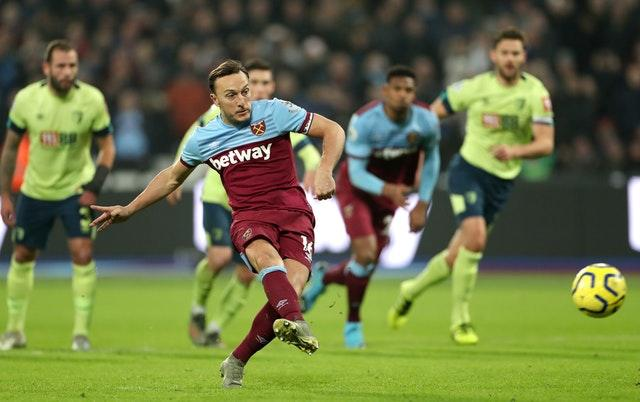 Noble kept his composure at the penalty spot