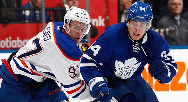How will McDavid and Matthews stack up to Crosby and Ovechkin when all is said and done? (Mark Blinch/Getty Images)