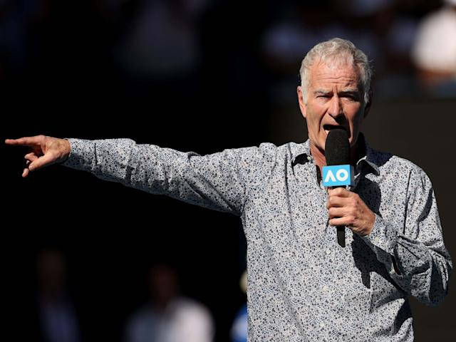 John McEnroe is commentating at the Australian Open this week: Getty