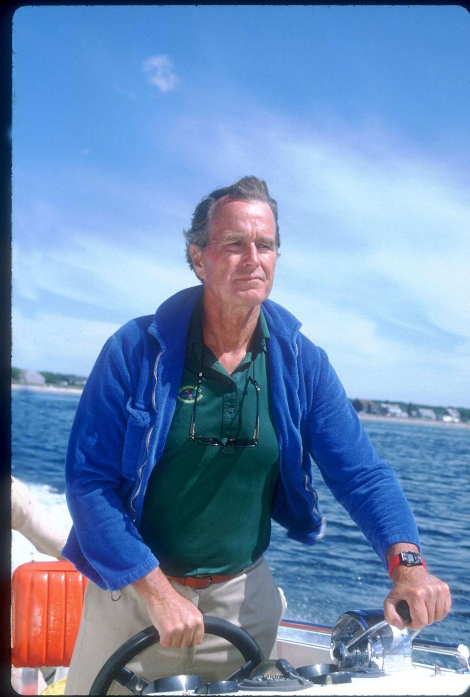 <p>While serving as Vice President under Ronald Reagan, future President George H. W. Bush vacations with his family in Kennebunkport, Maine.</p>
