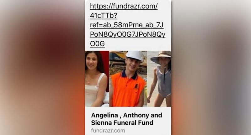 One of the fake fundraisers shared online. Source: Facebook