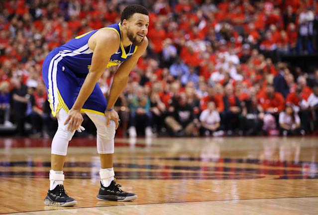 After repeated heckling and unruly behavior directed at his family during the NBA Finals, Steph Curry addressed the 'stupid' fan behavior on Wednesday before Game 6. (Gregory Shamus/Getty Images)