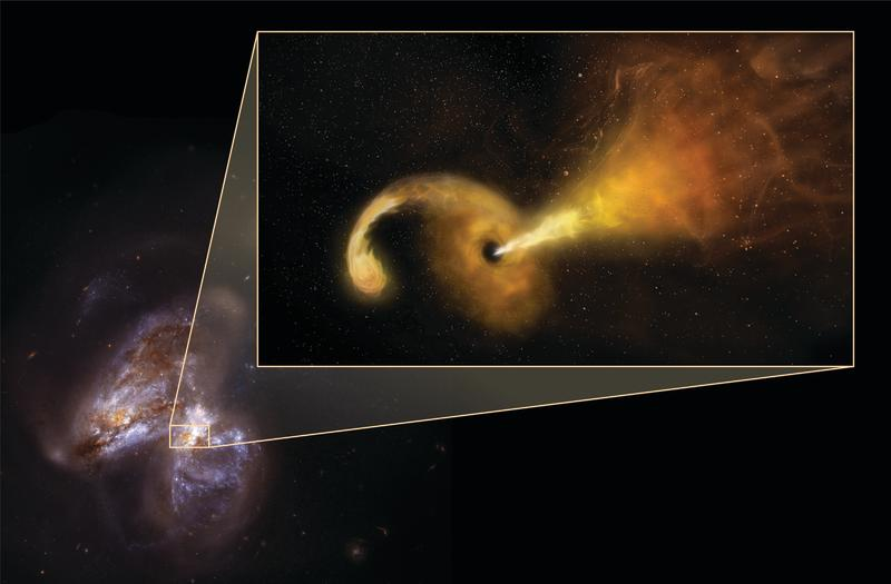 Supermassive Black Hole Eating a Star Finally Observed