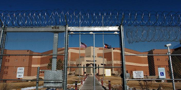 A view of the outside of the maximum security Colorado state penitentiary in Canon City, where Archuleta was serving time in 1974 before he escaped.