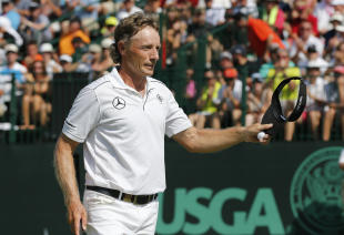 Bernhard Langer had a record victory in Wales on Sunday. (AP)