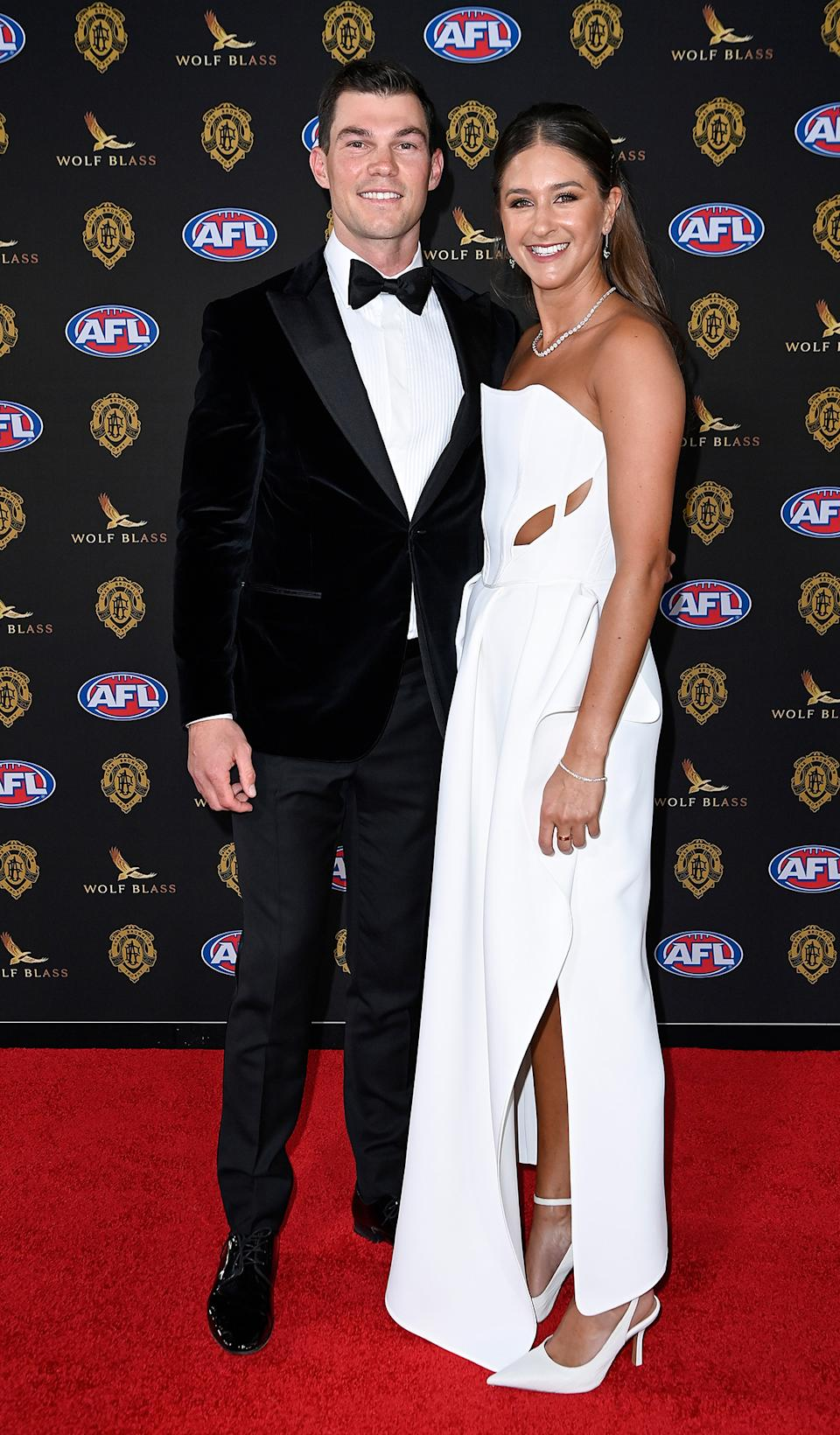 Jaegar O'Meara and Tory Packer at the Brownlow Medal 2021