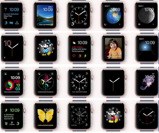 The Apple Watch OS now offers a dizzying number of faces.