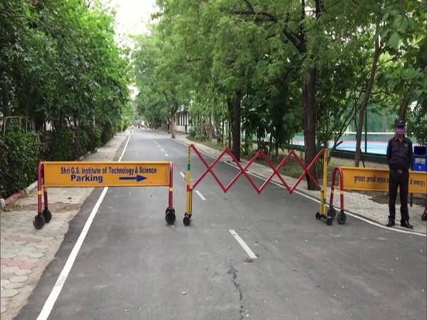 The 'no vehicle zone' in the SGSITS campus. (Photo/ANI)