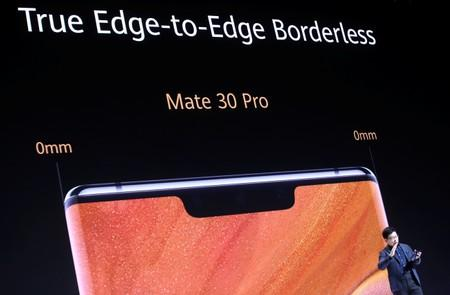 Richard Yu, CEO of Huawei's consumer business group, launches the Mate 30 smartphone range in Munich