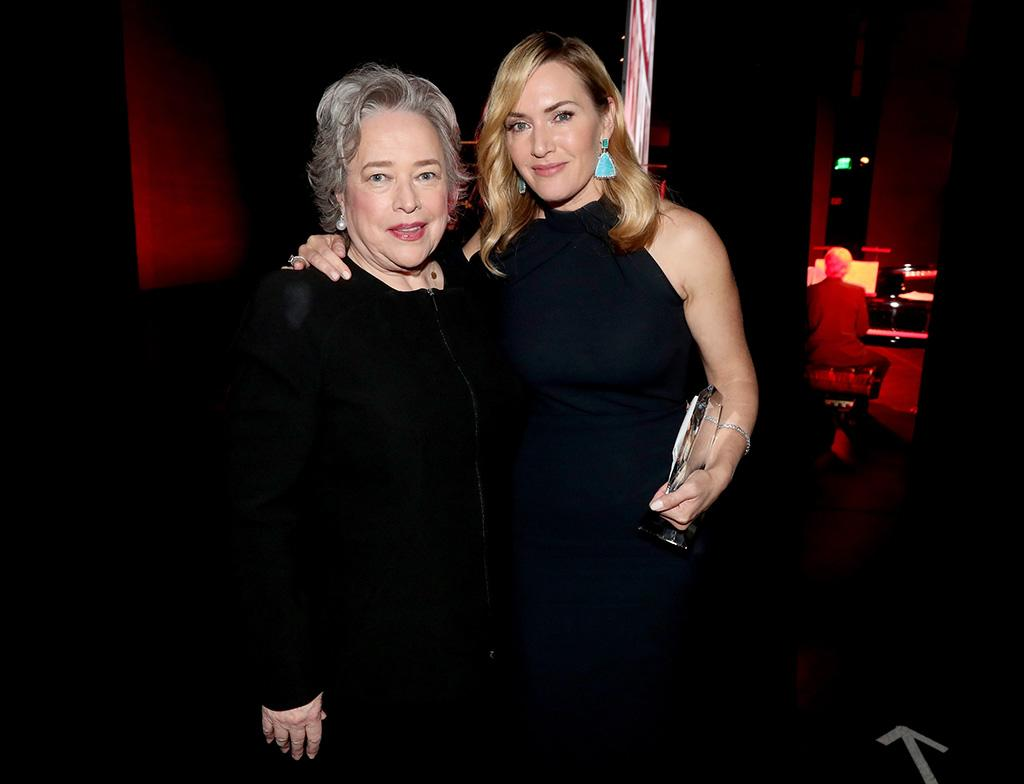 <p>It was a reunion of <em>Titanic</em> proportion as the former co-stars attended the SAG-AFTRA Foundation Patron of the Artists Awards on Thursday. Winslet was on hand to accept the Actors Inspiration Award, which was presented to her by Bates. (Photo: Christopher Polk/Getty Images for SAG-AFTRA Foundation) </p>