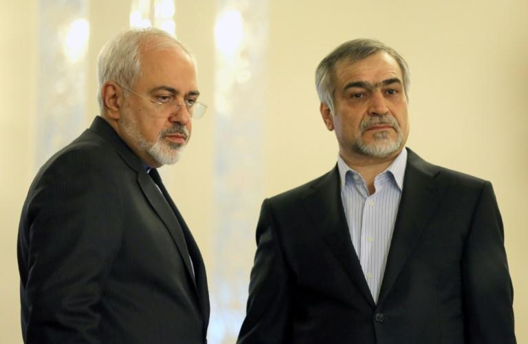 Hassan Rouhani's brother Hossein Fereydoun, seen here with Foreign Minister Mohammad Javad Zarif, was a key adviser to the Iranian president before his arrest