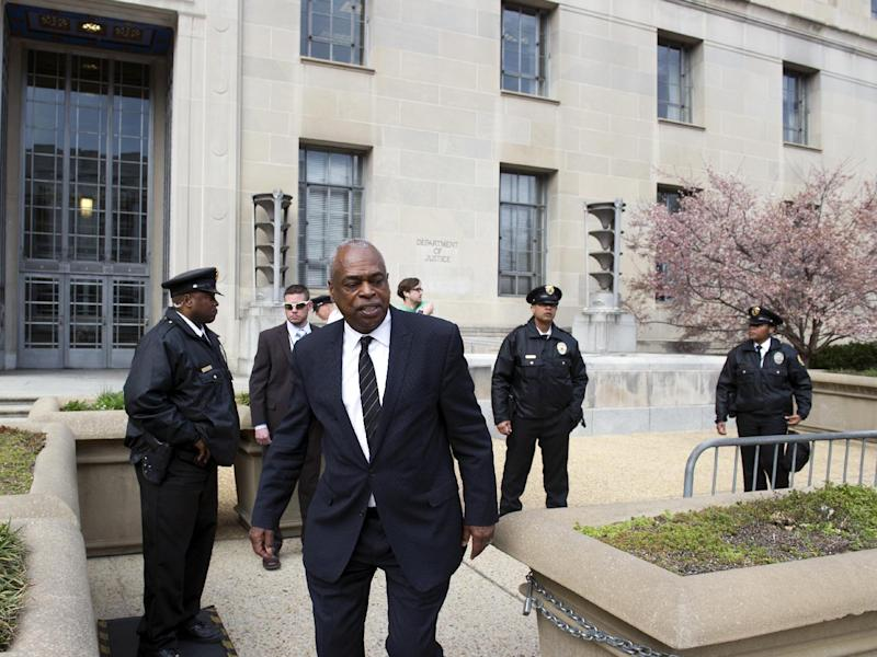 Wade Henderson, president of the Leadership Conference on Civil and Human Rights, leaves the Justice Department after he and other civil rights leaders met with Attorney General Jeff Sessions, in Washington, Tuesday, March 7, 2017. (AP Photo/Cliff Owen)