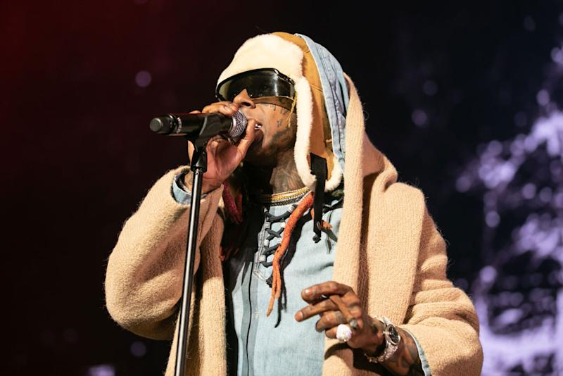 be8168fee22f4 Lil Wayne Hits the Stage in Outrageous Y/Project x Ugg Boots
